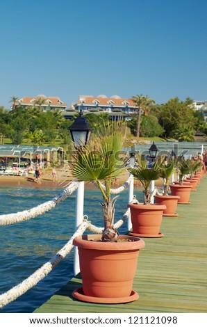 Pier beach hotel. Mediterranean. Turkey