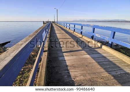 pier for fishing crabs - stock photo