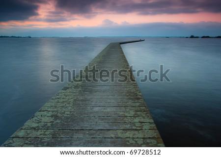 Pier in eveningsun