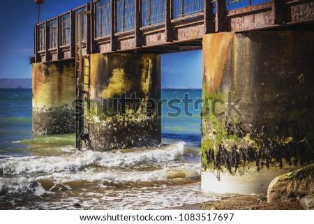 Pier in the ocean #1083517697