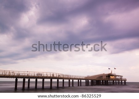 Pier in the Seaside