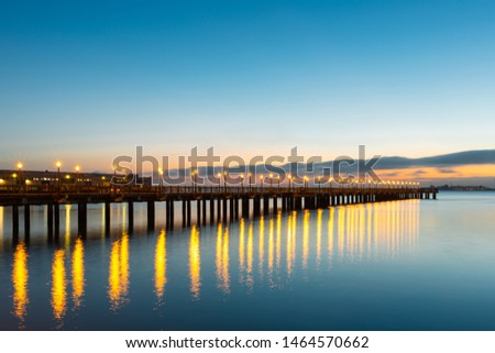 Pier 7 is a leading dock in the Embarcadero, San Francisco, California, USA #1464570662
