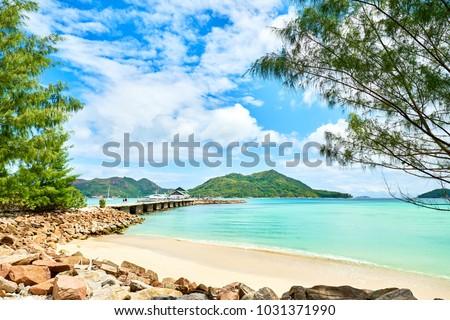 Pier jetty, Praslin, Seychelles #1031371990