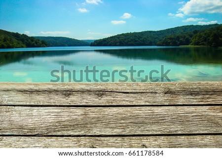 Pier. Lake pier pier #661178584