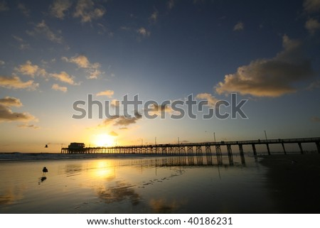 Pier Reflections at Sunset