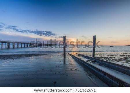 pier sunrise #751362691