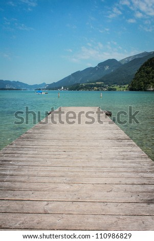 Pier to the lake