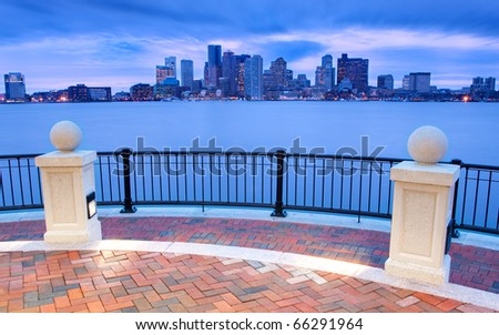 Piers Park in Boston, Massachusetts - USA.