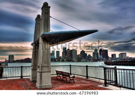 Piers Park in Boston, USA.