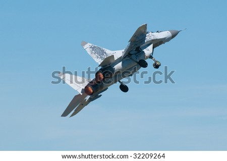 PIESTANY, SLOVAKIA - JUNE 14: Take off of Mig-29 on the Piestany airshow, Slovakia, June 14, 2009