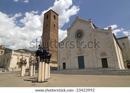 Pietrasanta (Lucca, Tuscany, Italy) - The Cathedral square