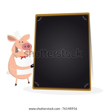 Pig Cook/ Illustration of a funny pig cook