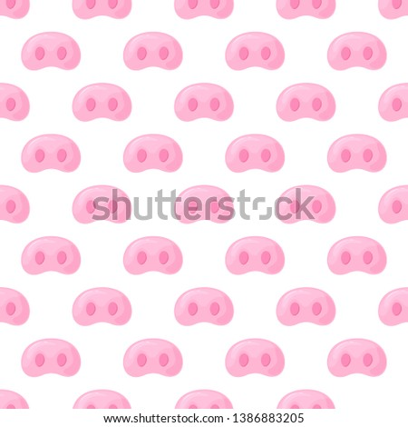 Pig s snout. Festive seamless pattern for the New Year 2019.