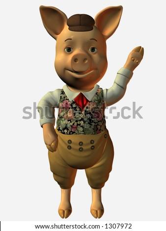 Pig say hello