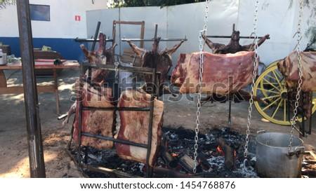 Pig to Paraguay and Bovine Rib #1454768876