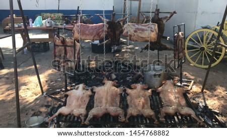 Pig to Paraguay and Bovine Rib #1454768882
