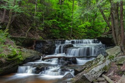 Pigeon Falls in The Allegheny National Forest near Marienville Pennsylvania