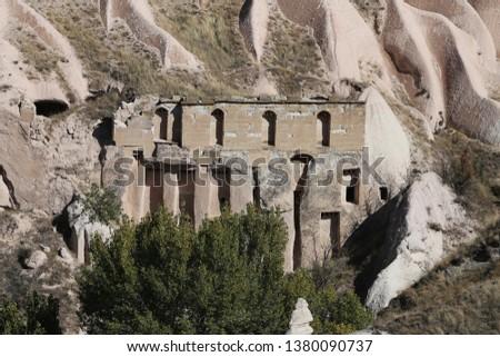 Pigeon Lofts in Rock Formation, Cappadocia, Nevsehir City, Turkey