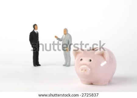 piggy bank and miniatures mens