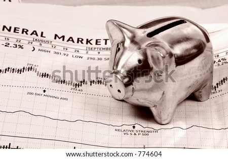 Piggy Bank and Stock Chart