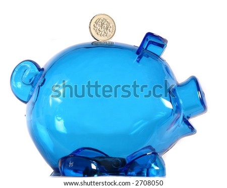 Piggy Bank - Isolated on White