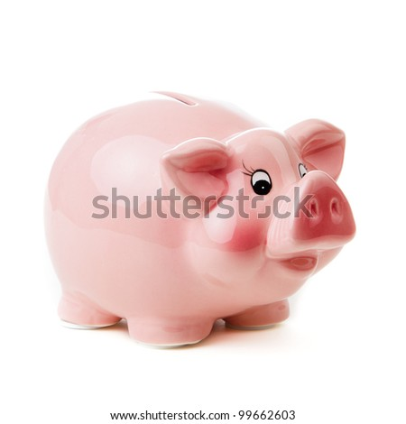 Piggy bank. isolated on white background