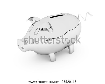 piggy bank its possible to use as  background - stock photo