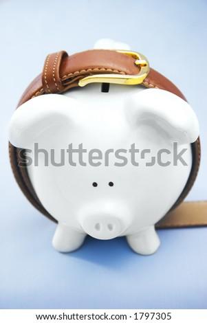 Piggy Bank with Belt