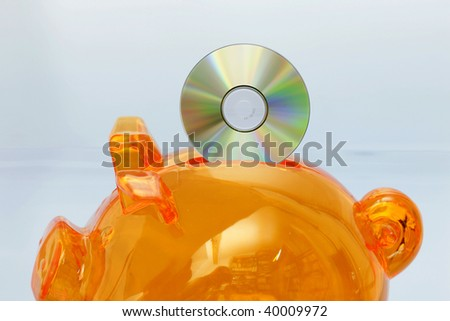 Piggy bank with CD