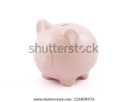 Piggy bank with clipping path