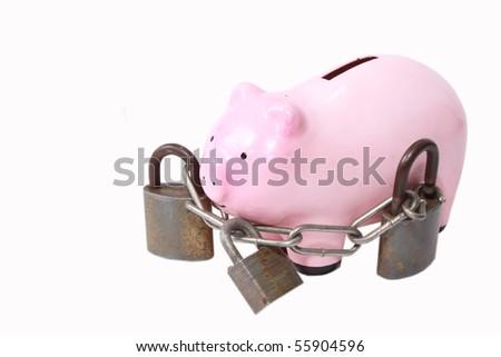 Piggy bank with heavy locks