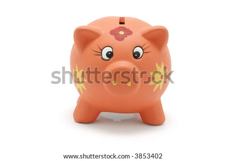 Piggybank on White Background