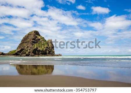 Piha beach which is located at the West Coast in Auckland,New Zealand.