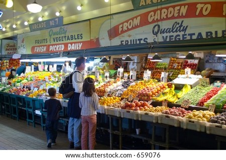 Pike Place Market Produce, Seattle Washington - stock photo