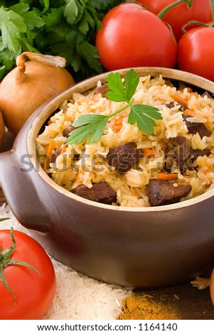 Pilaf (classic Middle Eastern and Central Asian dish)