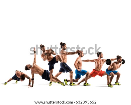 Pilates and fitness workout #632395652