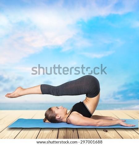 Pilates, Exercising, Yoga.