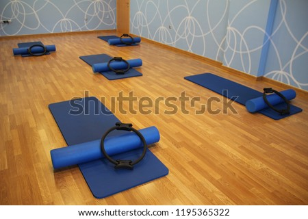 Pilates fitness physical therapist Foto stock ©