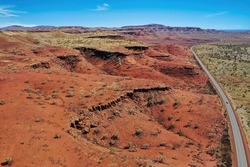 Pilbara is a region in Western Australia known for the red earth and its vast mineral deposits in particular iron ore.
