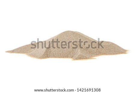 Pile desert sand dune isolated on a white background #1421691308