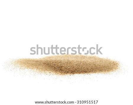 pile desert sand isolated on white background #310951517