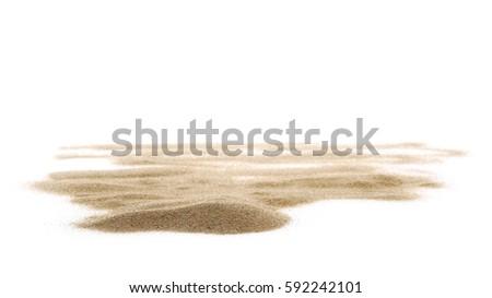 pile desert sand isolated on...