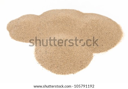 pile desert sand isolated on white backgrounds