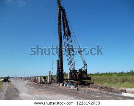Pile Driver in Pile Slab Project