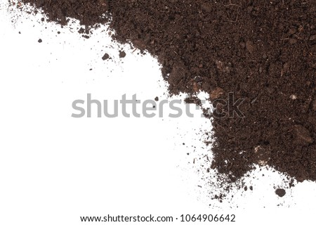 pile heap of soil isolated on...