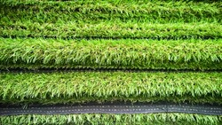 Pile of artificial turf background