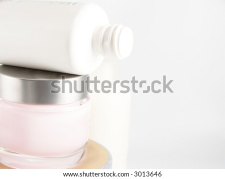 pile of beauty products - stock photo