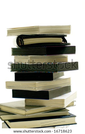 Pile of books and notes