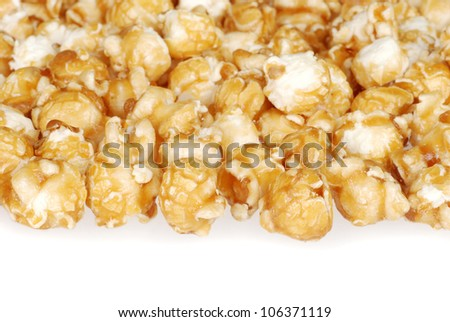 Pile of caramel candy popcorn