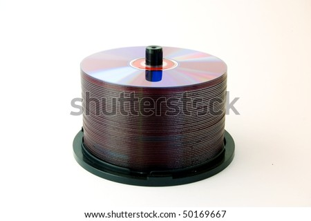 pile of cd, isolated object